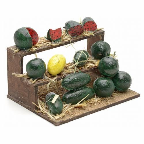 Neapolitan Nativity, watermelon stall 4.5x9x7cm s2