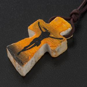 Necklace with painted cross s3
