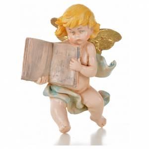 Ángeles: Ángel con libro azul Fontanini 7 cm. símil porcelana