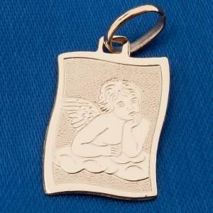 Ángel de Raffaello medalla oro 750/00 brillante gr. 1,40 s3