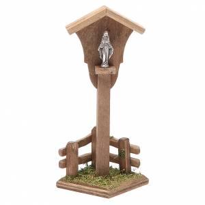 Casas, ambientaciones y tiendas: Nicho madera Virgen para belén h. 12x4,5x4,5 cm