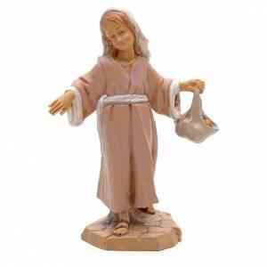 Figuras del Belén: Niña con paquete 12 cm Fontanini