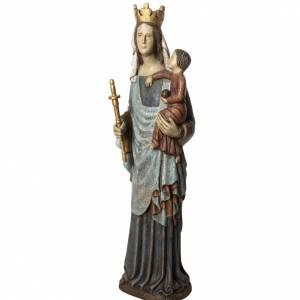 Notre Dame de Borguillon statue, 74 cm in painted wood, Bethlée s3