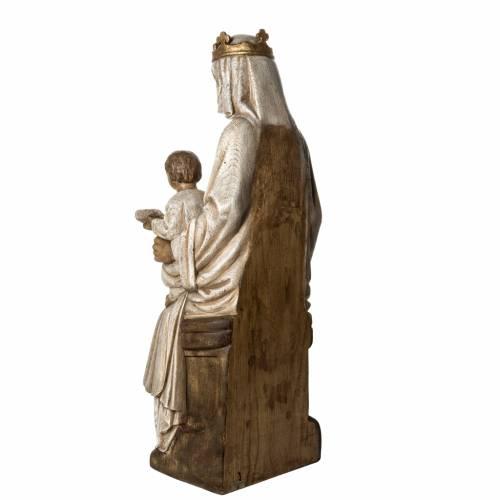 Notre Dame de Rosay 105 cm bois ancien Bethléem s4