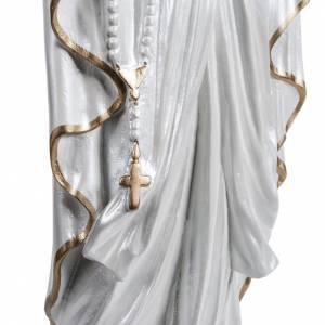 Nuestra Señora de Lourdes nacarada fibra de vidrio dorada s4