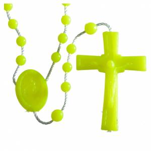 Economical rosaries: Nylon florescent rosary beads, yellow