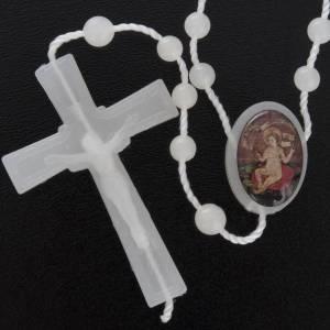 preiswerte Rosenkränze: Nylon Rosenkranz fluoreszierend Jesuskind Wettingen 5 mm