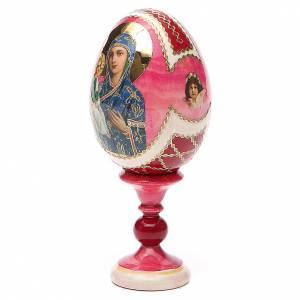 Oeuf bois découpage Russie Jerusalemskaya h 13 cm style Fabergé s2