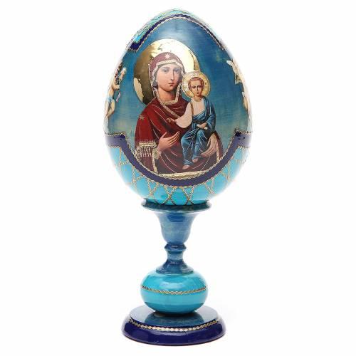 Oeuf Russie découpage Smolenskaya h 20 cm style Fabergé s1