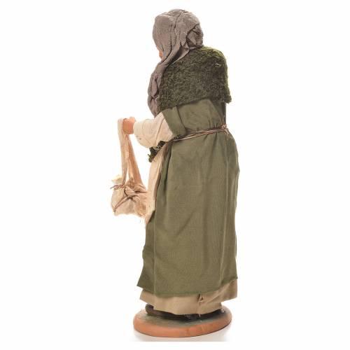 Old hunchbacked woman, Neapolitan Nativity 30cm s3