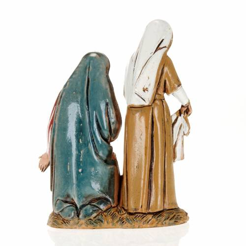 Old lady and child with cloths, nativity figurines, 10cm Moranduzzo s2