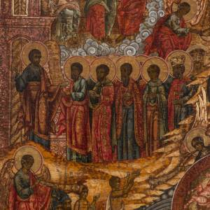 Old Russian Icon Last Judgment, 19th century s6