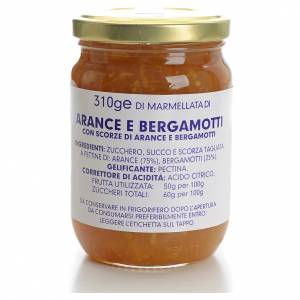 Jams and Marmalades: Orange and bergamot marmalade of the Carmelites monastery 310g
