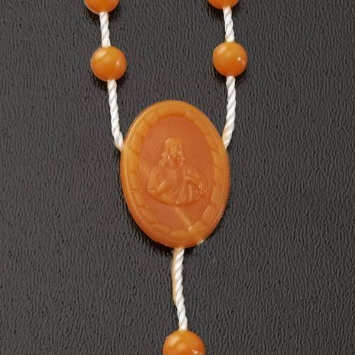 Orange nylon rosary s4