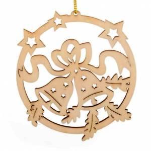 Décorations sapin bois et pvc: Ornement Noël étoiles clochettes