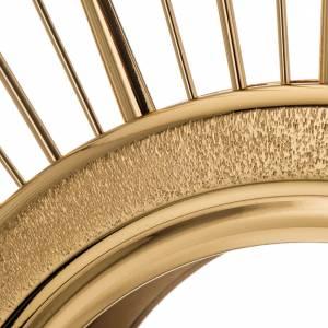 Ostensorio ottone espositore in vetro raggiera s11