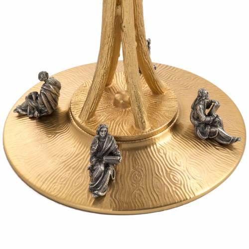 Ostensorio en bronce dorado con ángeles 60cm alto s7