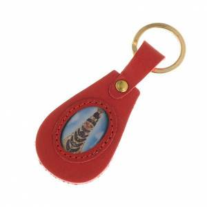 Key Rings: Our Lady of Loreto leather key ring, oval