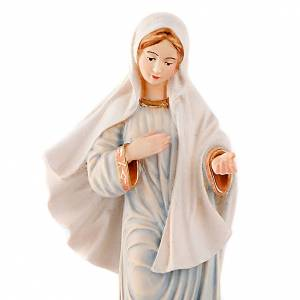Hand painted wooden statues: Our Lady of Medjugorje statue