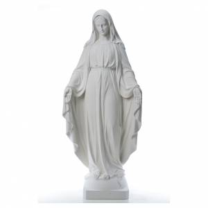 Reconstituted marble religious statues: Our Lady of Miracles, 130cm in reconstituted Carrara marble