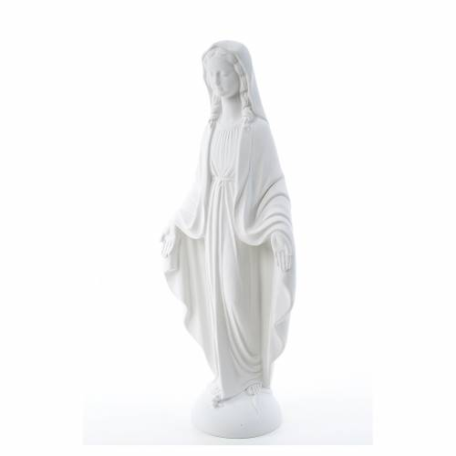Our Lady of Miracles in reconstituted Carrara marble 75 cm s2