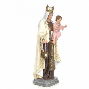 Our Lady of Mount Carmel wood paste 100cm, fine finish s4