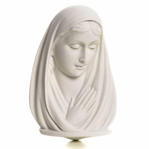 Our Lady, reconstituted marble bust, 13 cm s1