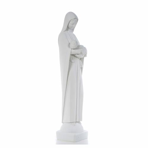 Our Lady with Child, reconstituted marble statue, 80 cm s4