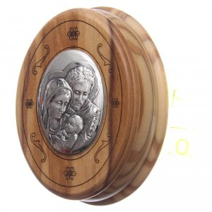 Oval case in olive wood with wooden rosary 5 mm s2