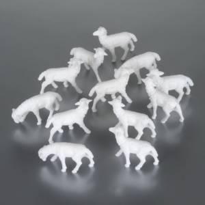 Zwierzęta do szopki: Owce 4 cm opakowanie 12 sztuk