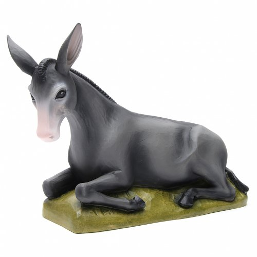 Ox and donkey, statues in painted fiberglass, 80cm s2