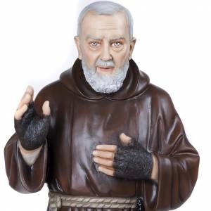 Padre Pio of Petralcina statue, 110 cm in painted marble dust s5