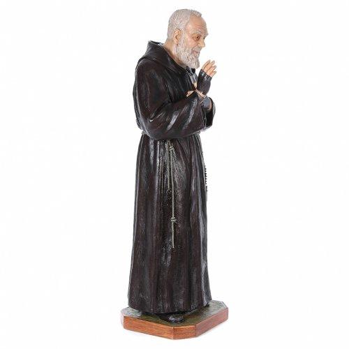 Padre Pio of Pietralcina statue in fiberglass, 175 cm by Landi s3