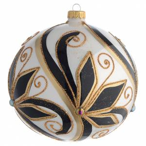 Palline di Natale: Palla addobbo Natale nero oro lucido 150 mm