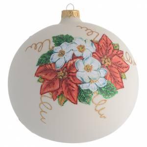 Palla Albero Natale fiori decoupage 150mm s1