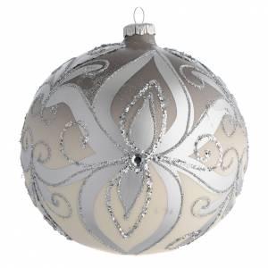 Palline di Natale: Palla Albero Natale vetro soffiato argento 150 mm