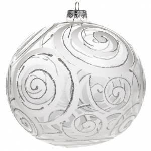 Palline di Natale: Palla albero Natale vetro trasparente decori 15 cm