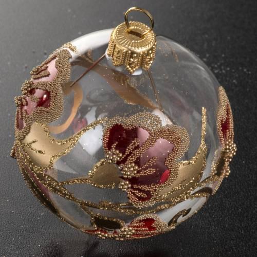 Palla Natale vetro trasparente decorazioni 6 cm s2