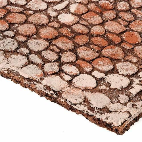 Panel de corcho tipo piedras para el pesebre 2