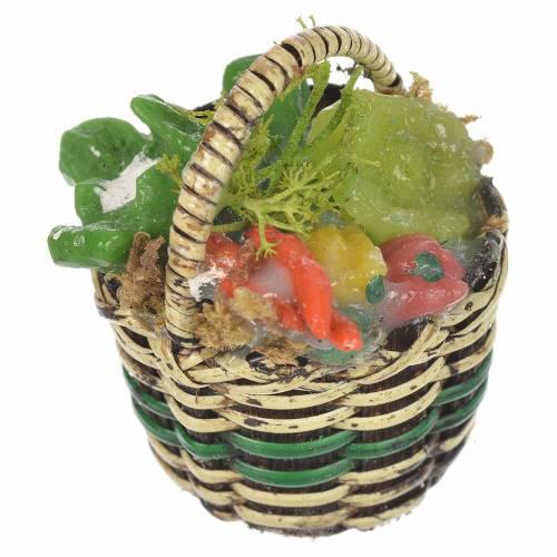Panier avec légumes crèche pour santons 20-24 cm s1