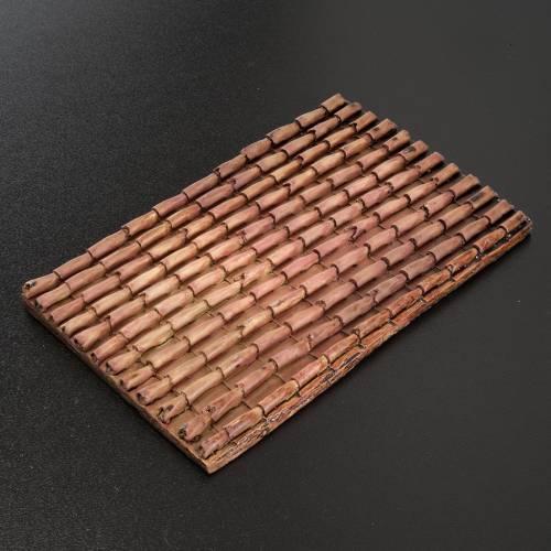 Panneau toit pour crèche résine tuiles 16x10 cm s2