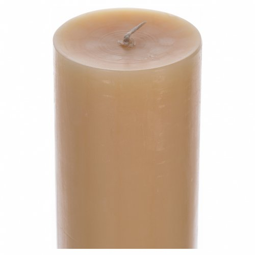 Paschal Candle in Beeswax, Lamb and Cross 8x120 cm s4