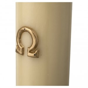 Paschal Candle, Risen Jesus with gold and red backgound s5