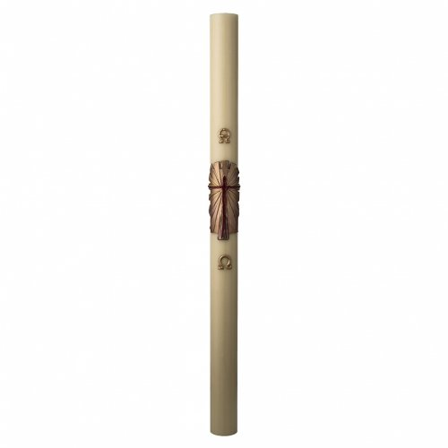 Paschal Candle, Risen Jesus with golden background s3