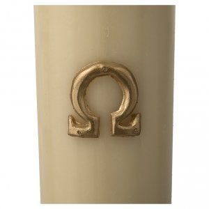 Paschal Candle, Risen Jesus with golden background s7