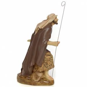 Pastor brazos abiertos 20cm pasta de madera dec. antigua s2