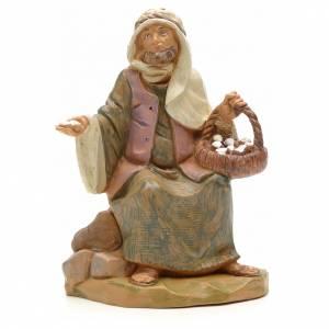Figuras del Belén: Pastor con cesta de huevo 12 cm Fontanini