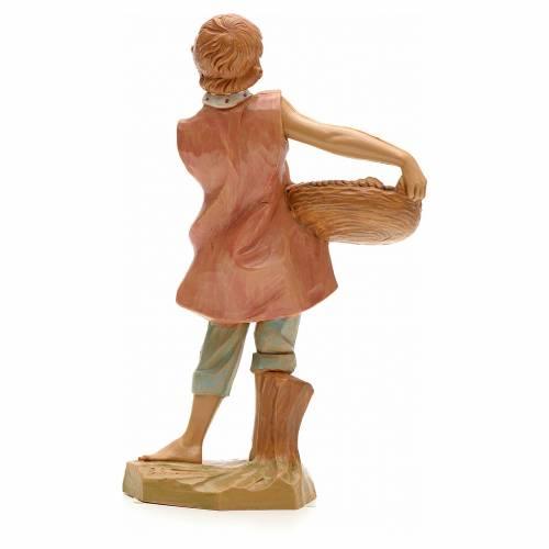 Pastor con cesta de peces 19cm Fontanini s2