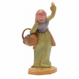 Pastora con uvas 12 cm Fontanini s4