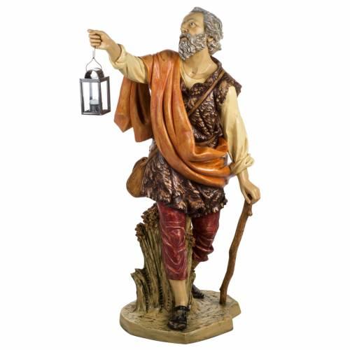 Pastore con lanterna 125 cm presepe Fontanini s1